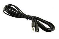 Аудио-кабель 3.5 jack/M/F (удлинитель) 3м