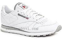 Кроссовки Reebok G 9168-3  Белые кожаные