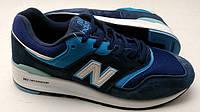 Кроссовки мужские New Balance 997 синие с голубым оригинал