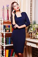 Женское темно-синее  платье Алекс 42-50 размеры