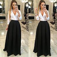 Длинная юбка декорирова складами