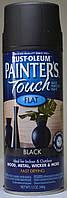 Эмаль универсальная алкидная RUST OLEUM Painter's Touch чёрный матовый, спрей 0,340