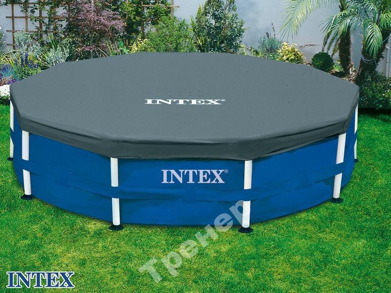 Тент-подогрев воды бассейн каркас. 366 см Intex