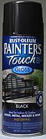 Эмаль универсальная алкидная RUST OLEUM Painter's Touch чёрный глянцевый, спрей 0,340
