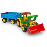Wader Машинка Трактор Гигант с Прицепом и Ковшом 66300ZS