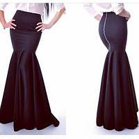 Элегантная длинная юбка на молнии