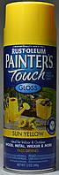 Эмаль универсальная алкидная RUST OLEUM Painter's Touch ярко-жёлтая  глянцевая, спрей 0,340