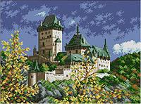"""Схема для вышивки бисером """"Осенний замок"""""""