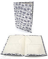Обложка на паспорт из тисненой кожи 211