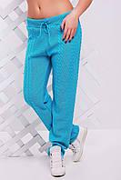 """Вязанные женские  штаны """"LILI"""" 42-46 (мята), фото 1"""