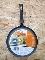 Сковородка с гранитным покрытием для Блинов Chef's Choice 24см.