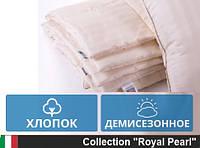 Одеяло MirSon двуспальное Евро хлопковое Демисезон 200 x220   Gold Silk Сатин 097