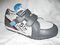 Кросовки детские  для маль т.серые J&G р34
