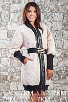 Женская деми куртка с поясом
