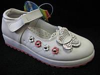 Туфли детские Мальвин для девочки р.29 КОЖА белые3