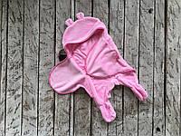 Универсальный махровый спальник-человечек конверт кокон 6-12м розовый