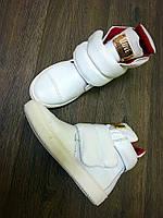 Женские белые ботинки на липучке Fhilipp plein