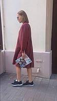 Стильное платье рубашка свободного кроя