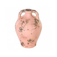 Розовая ваза с двумя ручками