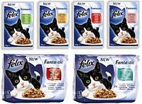 Felix  Fantastic-влажный корм для кошек 100г *20шт в ассортименте