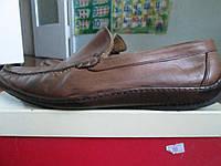 Мужские мокасини-кожа 42.5р суперлегкі коричневі
