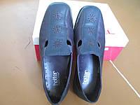 Мокасини кожа39р.женскиє фіолет-сині