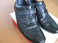 Мокасини кросовки Clarks 43.5р чорні