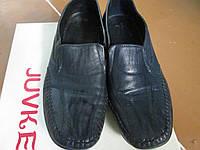 Мокасини женские 37р кожа сині