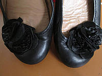 Лодочки-балетки кожа 36.5р квітка