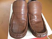 МУЖСКИЕ КОЖА 42.5 МОКАСИНИ-туфлі.коричневі