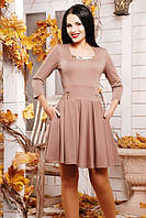 Женское бежевое платье Грин 42-50 размеры