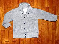 Теплые кофты-пиджаки для мальчика Джентельмен 1-5 лет