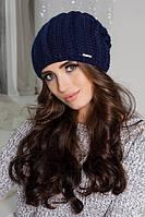 Женская вязаная шапка-колпак  1244