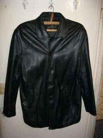 Мужская куртка натуральная кожа чёрная 50-52