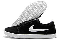Кеды мужские Nike Air черные с белым (найк аир)