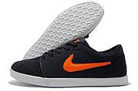 Кеды мужские Nike Air черные с оранжевым (найк аир)