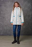 Демисезонная куртка для девочки NewMark Тала (белый)