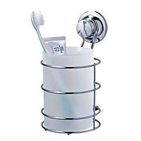 Стакан большой для зубных щеток и пасты на вакуумных присосках серии EverLoc