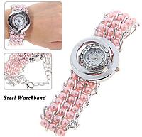 Аналоговые часы с круглым циферблатом для женщин - розовый цвет, женские часы каталог