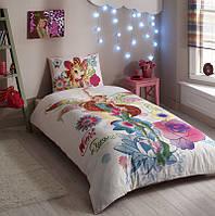 Детское постельное белье TAC Disney Magic Winx Flora (односпальное)