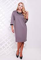 Платье больших размеров - 23889 | серый (р.54-60)