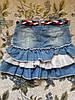 Юбка джинсовая для девочки на 5-6 лет