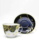 Набор чашка чайная с блюдцем И.Ф.З. Подарочная Гранат золотой 19177