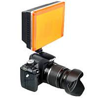 Накамерный светодиодный свет Wansen W260, 5600K (3200K/фильтр).
