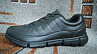 ЭККО (Ecco) туфли кроссовки мокасины на осень черные кожа