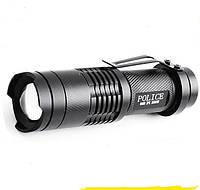 Тактический фонарик Police 20000w с линзой BL-8468