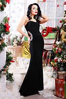Шикарное черное вечернее платье Клеопатра 42-50 размеры
