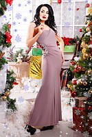 Шикарное бежевое вечернее платье Клеопатра 42-50 размеры