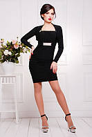 Короткое черное платье Дарья 42-50 размеры