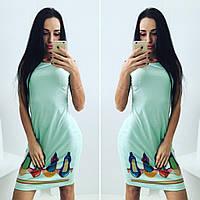 """Стильное молодежное платье мини """" Туфли """" Dress Code"""